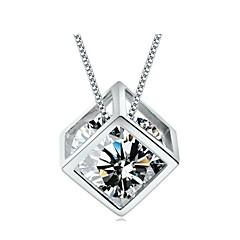 voordelige Damessieraden-Dames Vorm Birthstones Geboortestenen Hangertjes ketting Sterling zilver Zilver Hangertjes ketting Dagelijks Causaal Kostuum juwelen