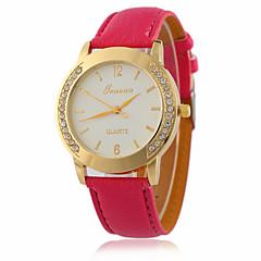 お買い得  大特価腕時計-女性用 クォーツ リストウォッチ 模造ダイヤモンド / クール PU バンド ヴィンテージ / カジュアル / ファッション ブラック