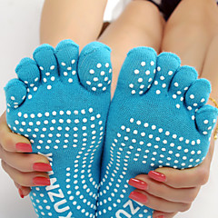 Mujer Calcetines con Dedo Calcetines A prueba de resbalones Reductor del Sudor para Yoga
