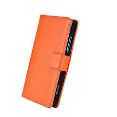 egyszínű mintás valódi bőr teljes test esetén állvánnyal és kártyanyílás Nokia Lumia 920