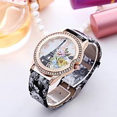preiswerte Damenuhren-Damen Armbanduhr Quartz Schlussverkauf Leder Band Analog Charme Modisch Schwarz / Weiß / Lila - 4 # 5 # 6 #
