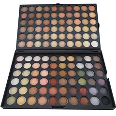 120 kleuren oogschaduw professionele matte / droog poeder make-up cosmetische palet smokey make-up / party make-up