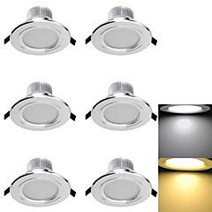 abordables Luces de Interior-led luces empotradas 6 smd 5730 300lm blanco cálido blanco frío 3000k / 6000k decorativo ac 85-265 ac 220-240 ca 110-130v