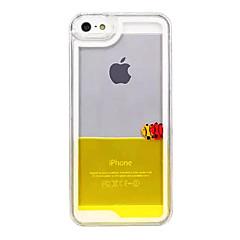 Для Кейс для iPhone 5 Движущаяся жидкость / Прозрачный Кейс для Задняя крышка Кейс для Мультяшная тематика Твердый PC iPhone SE/5s/5