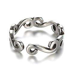 Miesten Naisten Nauhasormukset mansetti Ring Vintage Sterling-hopea Korut Käyttötarkoitus Päivittäin Kausaliteetti