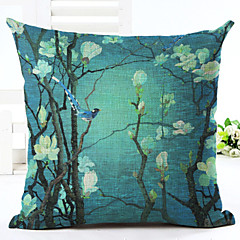 cheap -1 pcs Linen Pillow Case, Floral Novelty Accent/Decorative Traditional/Classic Office/Business Retro Modern/Contemporary