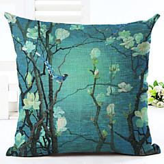 nyhed blomstermønster linned pudebetræk sofa hjem indretning pudebetræk