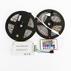 2x5m防水144ワット5050 SMDのRGBはランプ主導z®zdmストリップ1bin2信号線IR24鉄コントローラ(DC12V部12a)