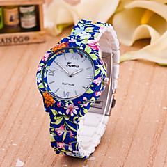 preiswerte Tolle Angebote auf Uhren-Damen Modeuhr Quartz Schlussverkauf Plastic Band Analog Blume Blau - Weiß Gelb Ein Jahr Batterielebensdauer / Tianqiu 377