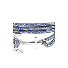 preiswerte Armbänder-Wickelarmbänder - Kreuz, Freunde, Anker Punk, Hip-Hop Armbänder Blau / Dunkelgrün / Dunkelmarine Für Alltag / Normal / Sport