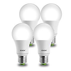 E26/E27 Żarówki LED kulki A60(A19) 1 COB 850-900 lm Ciepła biel Zimna biel Dekoracyjna AC 100-240 V 4 sztuki
