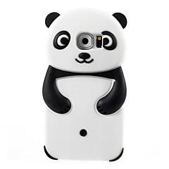 leuke cartoon panda model siliconen materiaal beschermhoes voor galaxy S7 edge / S7 / s6 / S5 / S4 / S4 mini / s3 mini gsm-toestellen