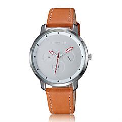 お買い得  メンズ腕時計-男性用 リストウォッチ 耐水 レザー バンド カジュアル / ファッション ブラック / ブラウン / ステンレス / KC 377A