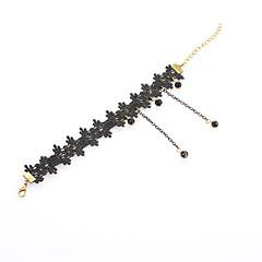 Βραχιόλι αστραγάλου Δαντέλα Sexy / Μοντέρνα Μαύρο Κοσμήματα,1pc