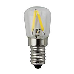 2W E14 Lâmpada Redonda LED S14 2 leds COB Regulável Branco Quente 150-200lm 2700K AC 220-240V