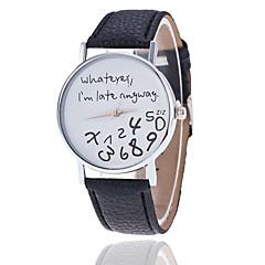 halpa Naisten kellot-Naisten Quartz Arkikello PU Bändi Sanakellot Muoti Musta  Valkoinen Punainen  Ruskea  Harmaa Khaki