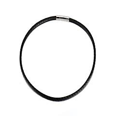billige Herre Smykker-Herre Dame Cirkelformet Afslappet Mode minimalistisk stil Kædehalskæde Læder Nylon Kædehalskæde , Daglig Afslappet