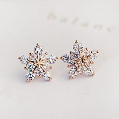Damskie Kolczyki na sztyft Kolczyk Modny Ślubny biżuteria kostiumowa Cyrkon Cyrkonia Imitacja diamentu Star Shape Biżuteria Na Ślub