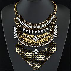 preiswerte Halsketten-Damen Statement Ketten - Strass Erklärung, Retro, Europäisch Silber, Golden, Champagner Modische Halsketten Für Party, Alltag, Normal