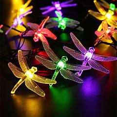 お買い得  LED ストリングライト-5m ストリングライト 20 LED Dip LED 温白色 / ホワイト / レッド 充電式 / 防水 100-240 V / # / IP44