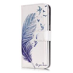 Χαμηλού Κόστους Galaxy S6 Θήκες / Καλύμματα-tok Για Samsung Galaxy Samsung Galaxy S7 Edge Θήκη καρτών Πορτοφόλι με βάση στήριξης Ανοιγόμενη Με σχέδια Φτερά για S7 edge S7 S6 edge S6