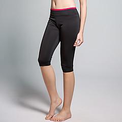 calças de yoga Cropped Respirável Redutor de Suor Natural Com Elástico Moda Esportiva Vermelho Preto MulheresIoga Alpinismo Exercício e