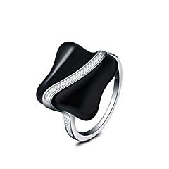 お買い得  指輪-女性用 ステートメントリング  -  銀メッキ ステートメント, ファッション 7 / 8 シルバー 用途 結婚式 パーティー 日常