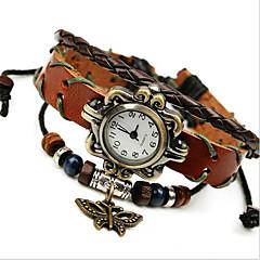 billige Armbåndsure-Dame Modeur Armbåndsur Digital Læder Bånd Bohemisk Brun Brun