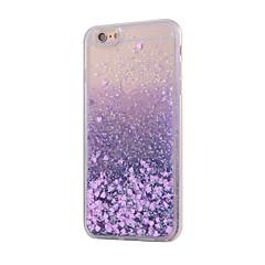 Недорогие Кейсы для iPhone X-Назначение iPhone X iPhone 8 iPhone 8 Plus iPhone 6 iPhone 6 Plus Чехлы панели Движущаяся жидкость Задняя крышка Кейс для Сияние и блеск