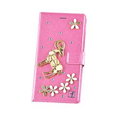 Для Кейс для Huawei / Mate 8 Кошелек / Бумажник для карт / Защита от удара / Стразы Кейс для Чехол Кейс для 3D в мультяшном стиле Твердый