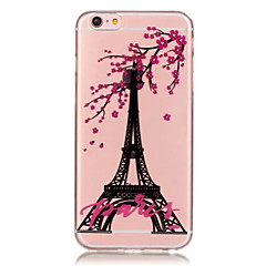 Mert iPhone 6 tok / iPhone 6 Plus tok Átlátszó / Minta Case Hátlap Case Eiffel torony Puha TPU iPhone 6s Plus/6 Plus / iPhone 6s/6