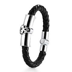abordables Bijoux pour Femme-Homme Bracelets en cuir - Cuir Crâne Bracelet Noir / Marron Pour Mariage Quotidien Décontracté