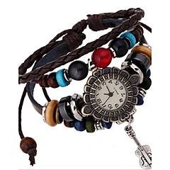 voordelige Armbandhorloges-Dames Modieus horloge Armbandhorloge Digitaal Leer Band Bohémien Bruin
