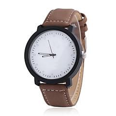 お買い得  大特価腕時計-カップル用 クォーツ リストウォッチ カジュアルウォッチ レザー バンド チャーム / ファッション ブラック / 白