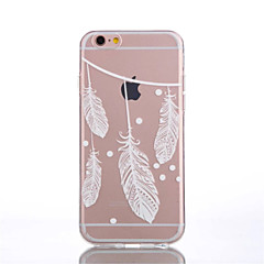 For iPhone 6 etui iPhone 6 Plus etui Transparent Mønster Etui Bagcover Etui Fjer Blødt TPU foriPhone 7 Plus iPhone 7 iPhone 6s Plus/6