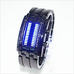 お買い得  大特価腕時計-男性用 女性用 カップル用 リストウォッチ デジタル 30 m 耐水 クリエイティブ LED 合金 バンド デジタル ファッション ユニーククリエイティブウォッチ ブラック / シルバー - シルバー ブラック / レッド ブラックとブルー 1年間 電池寿命 / SODA AG4