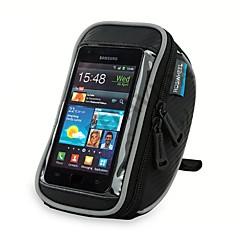 ROSWHEEL Taske til cykelstyret Mobiltelefonetui 5.5 Tommer Vandtæt Lynlås Påførelig Fugtsikker Stødsikker Touch Screen Cykling for Iphone
