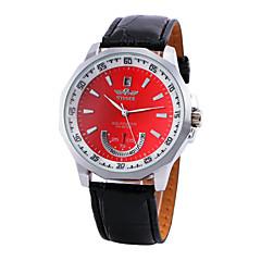 お買い得  メンズ腕時計-WINNER 男性用 機械式時計 カジュアルウォッチ PU バンド チャーム ブラック / 自動巻き