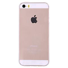 Недорогие Кейсы для iPhone 5-Кейс для Назначение iPhone 5 Apple Кейс для iPhone 5 Ультратонкий Прозрачный Кейс на заднюю панель Сплошной цвет Твердый ПК для iPhone