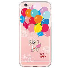Na iPhone X iPhone 8 iPhone 6 iPhone 6 Plus Etui Pokrowce Ultra cienkie Wzór Etui na tył Kılıf Balloon Miękkie Poliuretan termoplastyczny