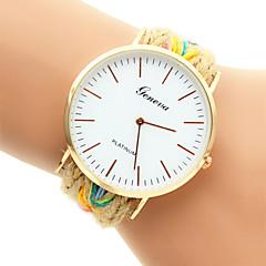 preiswerte Damenuhren-Damen Modeuhr Armband-Uhr Quartz Mehrfarbig Armbanduhren für den Alltag Analog Silber Golden