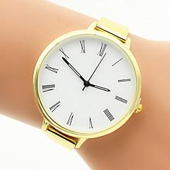 preiswerte Tolle Angebote auf Uhren-Damen Quartz Armband-Uhr Modeuhr Armbanduhren für den Alltag Edelstahl Band Silber Gold