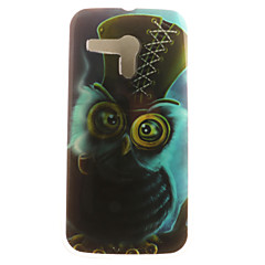 olcso Motorola tokok-Case Kompatibilitás Moto G Motorola Motorola tok Minta Fekete tok Bagoly Puha TPU mert