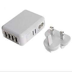 Wtyczka EU Wtyczka UK Wtyczka US Wtyczka AU Telefonowa ładowarka USB Wieloportowa cm Wyloty 4 porty USB 2,1A 2A 1A 0,5A AC 100V-240V