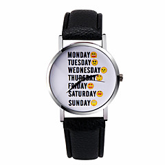 Fashion Women's Watch Watch Letter Watch Week Emoticons Sunday Word Watches Quartz Wrist Watch