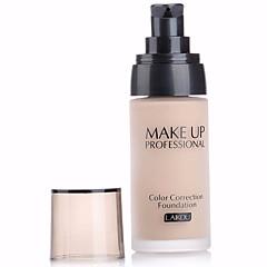 billige Ansigtssminke-3 Foundation Våd Flydende Blegende Anti Ældning Fugt Dekning Olie kontrol Længerevarende Concealer Ujævn hud Naturlig Behandling af sorte