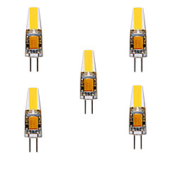 Ywxlight® g4 led bi-pin lights mr11 4 cob 460 lm branco quente branco frio decorativo dc / ac 12v dc / ac 24v 5pcs