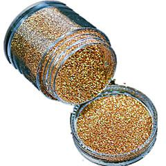 رخيصةأون -1 زجاجة مسمار مسحوق بريق ديي الليزر جميلة لون الذهب مسمار وسام الجمال L01
