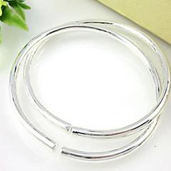 お買い得  ブレスレット-女性用 カフブレスレット  -  純銀製 ファッション ブレスレット シルバー 用途