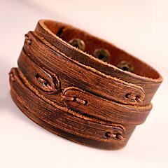 Heren Wikkelarmbanden Lederen armbanden Kostuum juwelen Modieus Bohemia Style Aanbiddelijk Met de hand gemaakt Leder Geometrische vorm